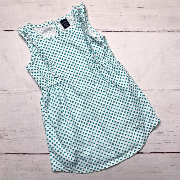 Gap Teal Polka Dot Dress 18-24m